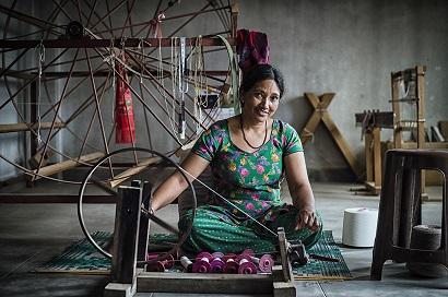 Vivienne Westwood Gaia Scarf made in Nepal