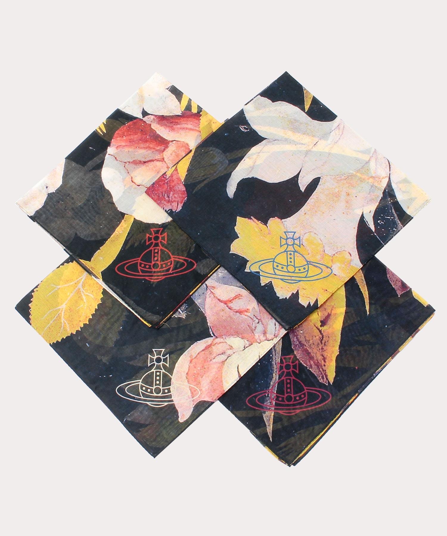 【新商品】オンラインショップ限定 【4枚セット】カーピフラワー ラージハンカチーフ